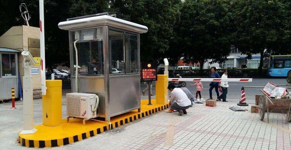 蓬安云溪庭院小区 安装1进1出 双通道车牌识别系统车牌识别系统