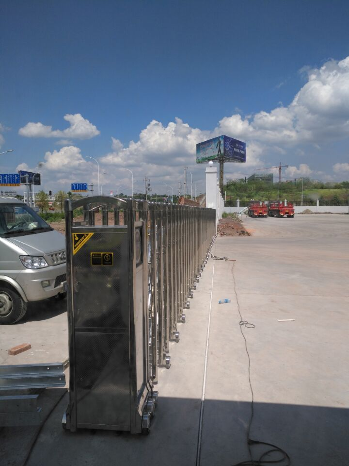 广安比亚迪公司-工业园-安装电动伸缩门